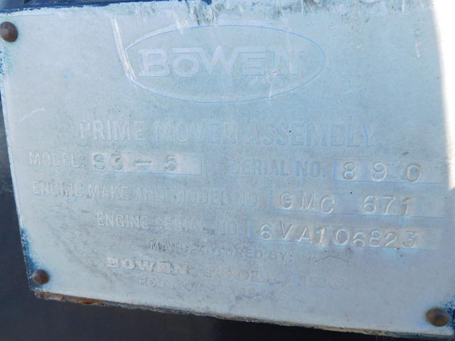 BOWEN S-3.5 Power Swivel p/b DETROIT 6V-71N