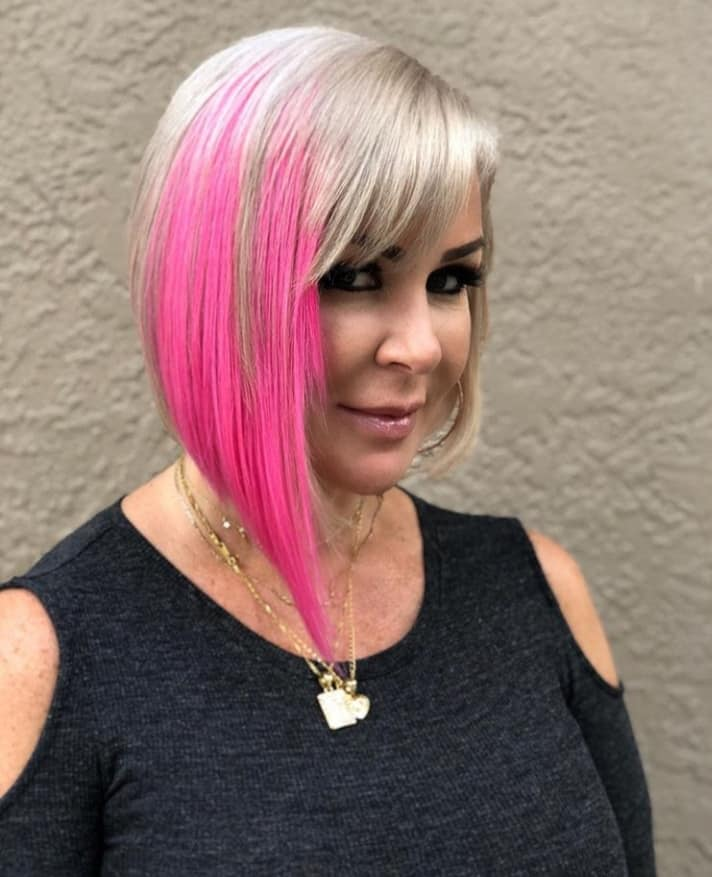 HairTalk USA tape in extensions and a splash of pink by Tamara