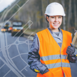female engineer on forest road pavement 72ppi-01