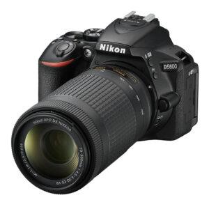 Nikon D5600 DSLR Camera with 18-55 and 70-300mm Lenses  Memory Card and Bag (Black)