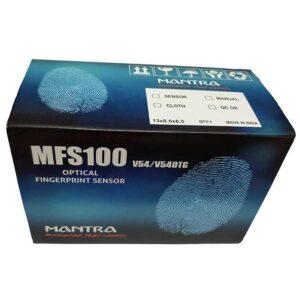 Mantra MFS100 Finger Print Scanner (Silver-Black)