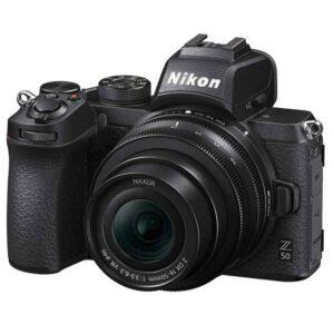 Nikon Z50 Mirrorless DSLR Camera Body with Z DX 16-50mm  Lens & 64GB Sandisk extreme pro  Memory card (Black)