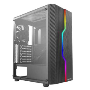Antec NX230 NX Series-Mid Tower Gaming Cabinet Computer case with RGB Front Supports ATX, M-ATX, ITX Motherboard with Transparent Side Panel