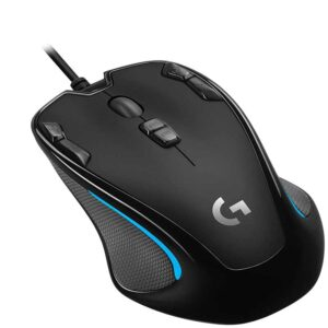 Logitech G300s Wired Gaming Mouse, 2,500 DPI, RGB, Lightweight, 9 Programmable Controls, On-Board Memory,  Black