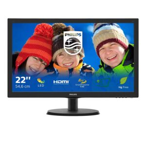 PHILIPS 223V5LHSB2/94 21.5″ LCD Monitor with LED Backlights with HDMI Port/VGA Port