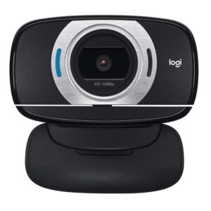 Logitech C615 Portable Webcam (Full HD 1080p/30fps, Widescreen HD Video Calling, Foldable, HD Light Correction, Autofocus, Noise Reduction)