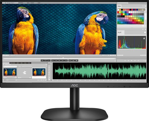 """AOC 24B2XH 23.8"""" Ultra Slim Monitor which is 3 Sided Frameless with IPS Panel"""