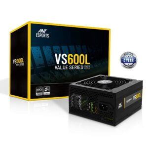 Ant Esports VS600L 600W Value series power supply Black (SMPS)