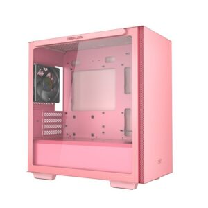 DEEPCOOL MACUBE 110 ATX MID TOWER TEMPERED GLASS PINK CABINET (R-MACUBE110-PRNGM1N-A-1)