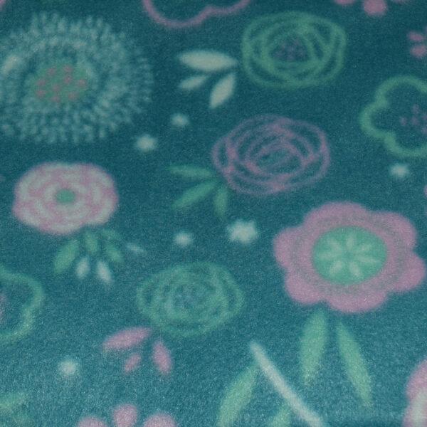 Pet Hammock Flowers Green Pink