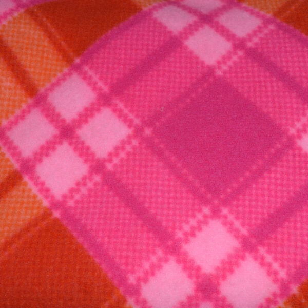 Pet Hammock Plaid Pink Orange