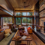 Knotty French Oak with Custom Natural Oil, Private Residence Martis Camp, Copyright Vance Fox