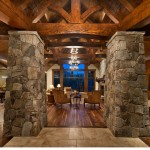 Rustic Walnut with Natural Oil, Private Residence Martis Camp, Copyright Vance Fox
