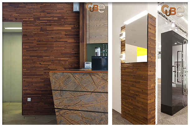Beautiful wall coverings and wall clad elements in wood