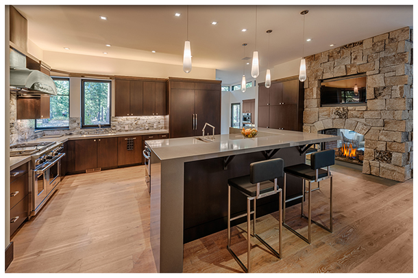 custom and environmentally friendly wood flooring for kitchens