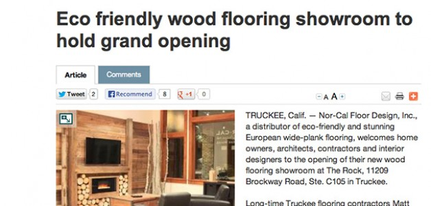 Nor-Cal Floor Design in the Sierra Sun