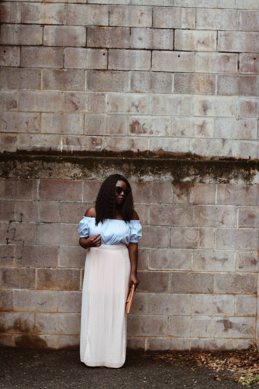 2016-pantone-colors- pleated skirt