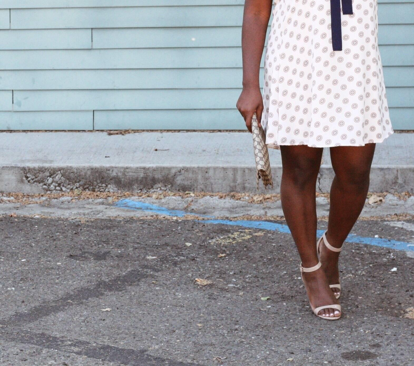 shift dress coffee talk ruthie strappy heels
