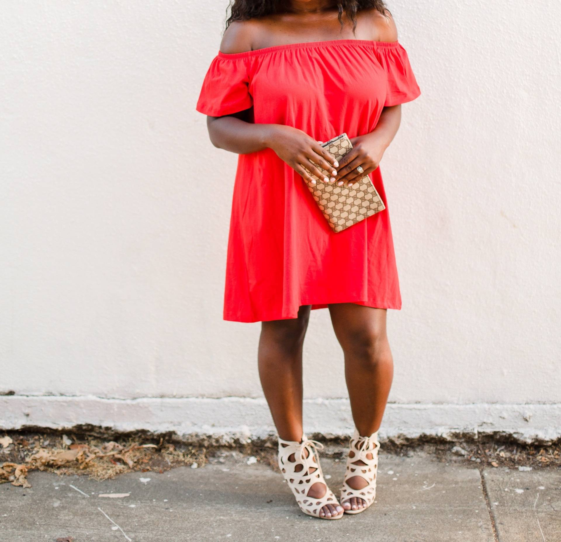 red-off-the-shoulder- Ruthie Ridley Blog