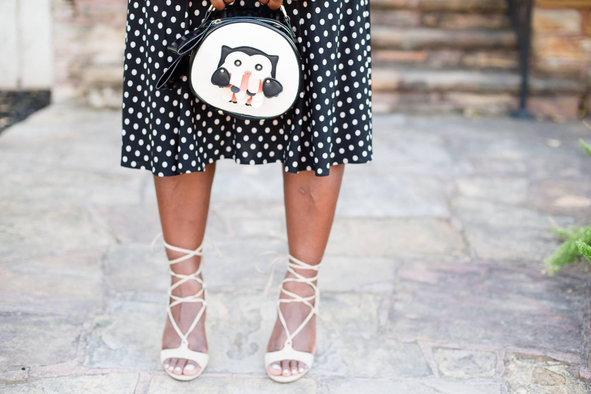 polka-dot-dress- payless shoes