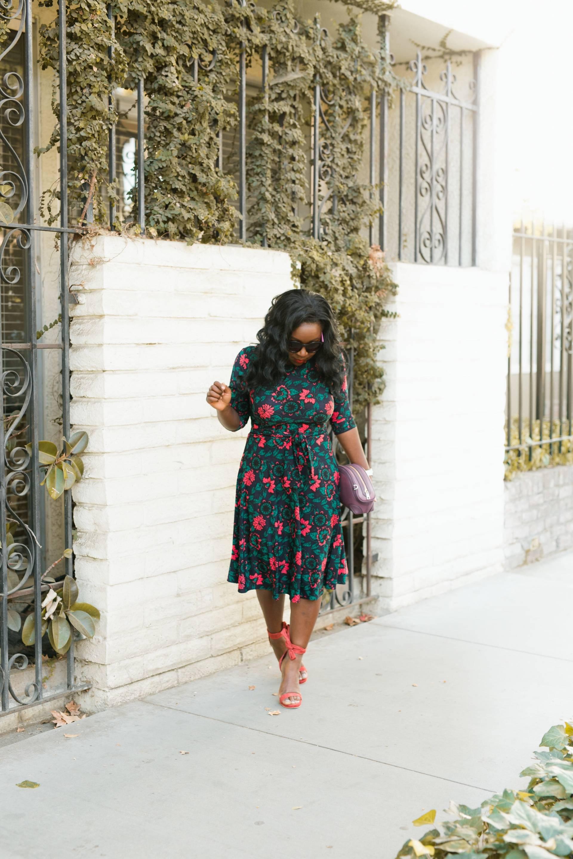 floral-dress- VIPME bag