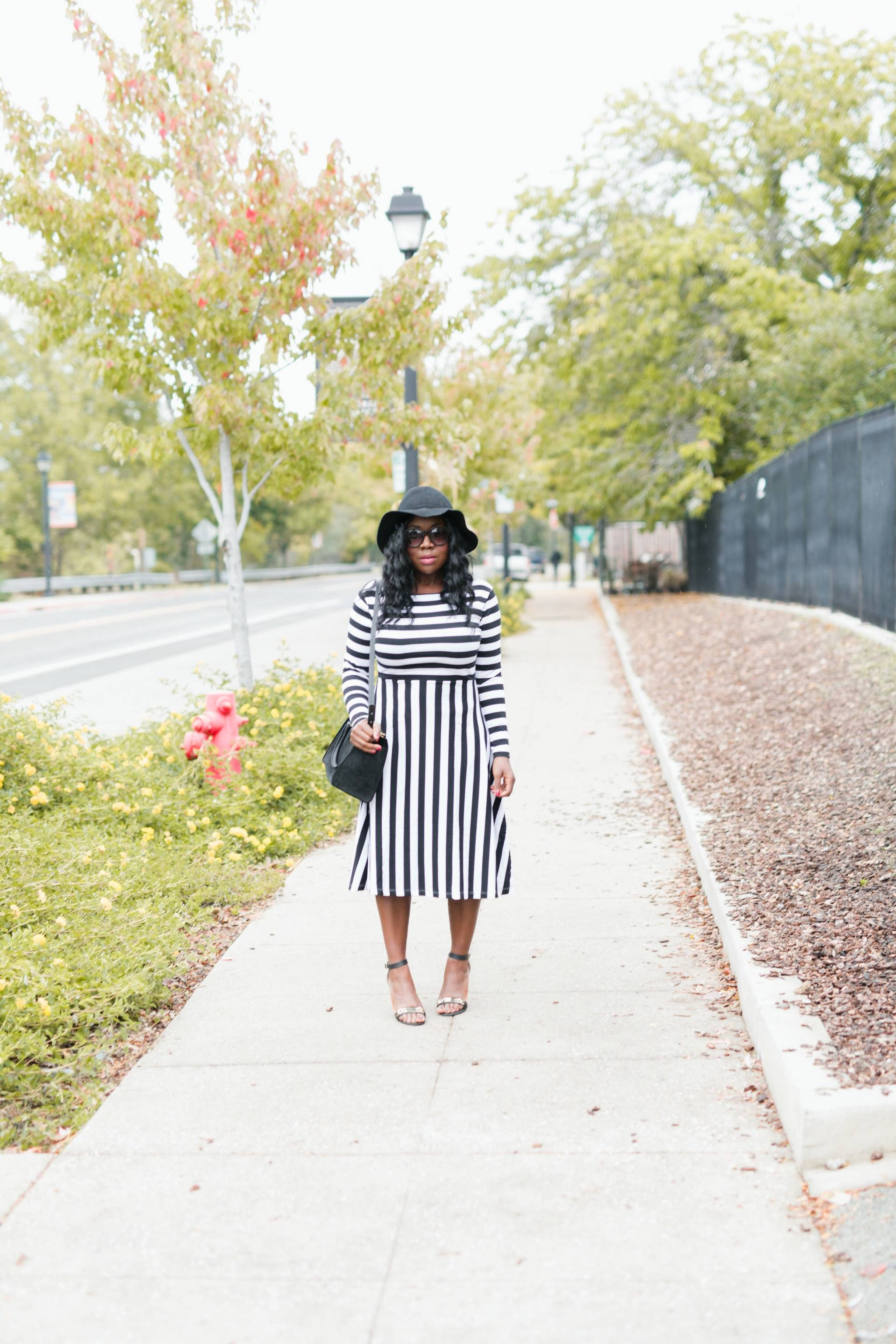striped-how-to-prepare-for-thanksgiving-now- striped dress