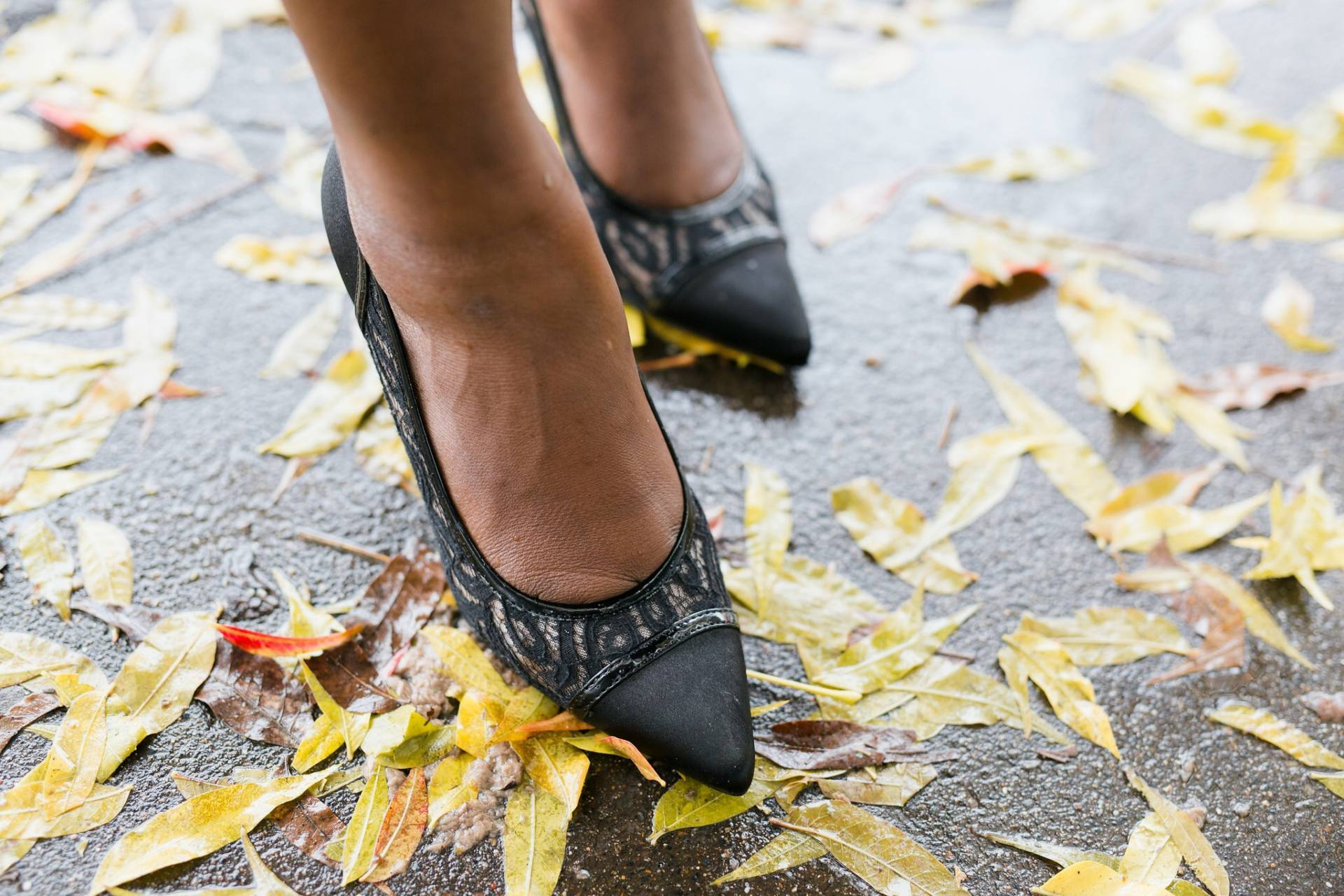black-lace-with-payless- payless shoes