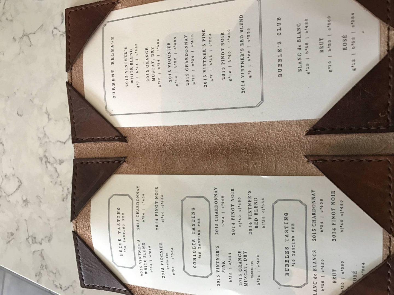 liana-estates-napa-valley- the menu