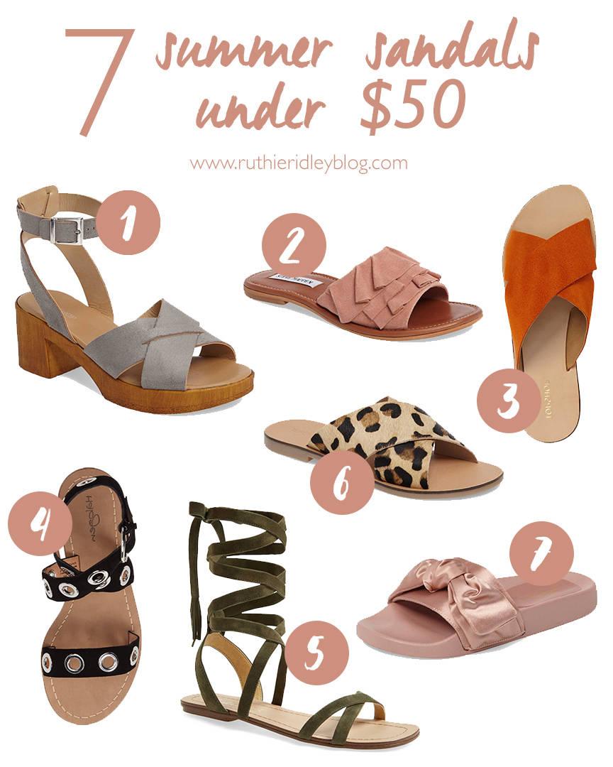 7 Summer Sandals Under 50.00