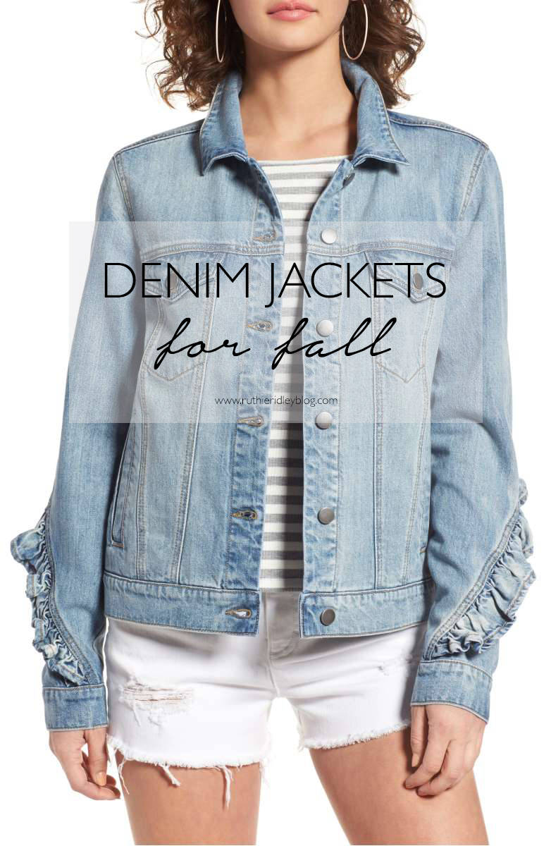 Denim Jackets for Fall all under 50.00!