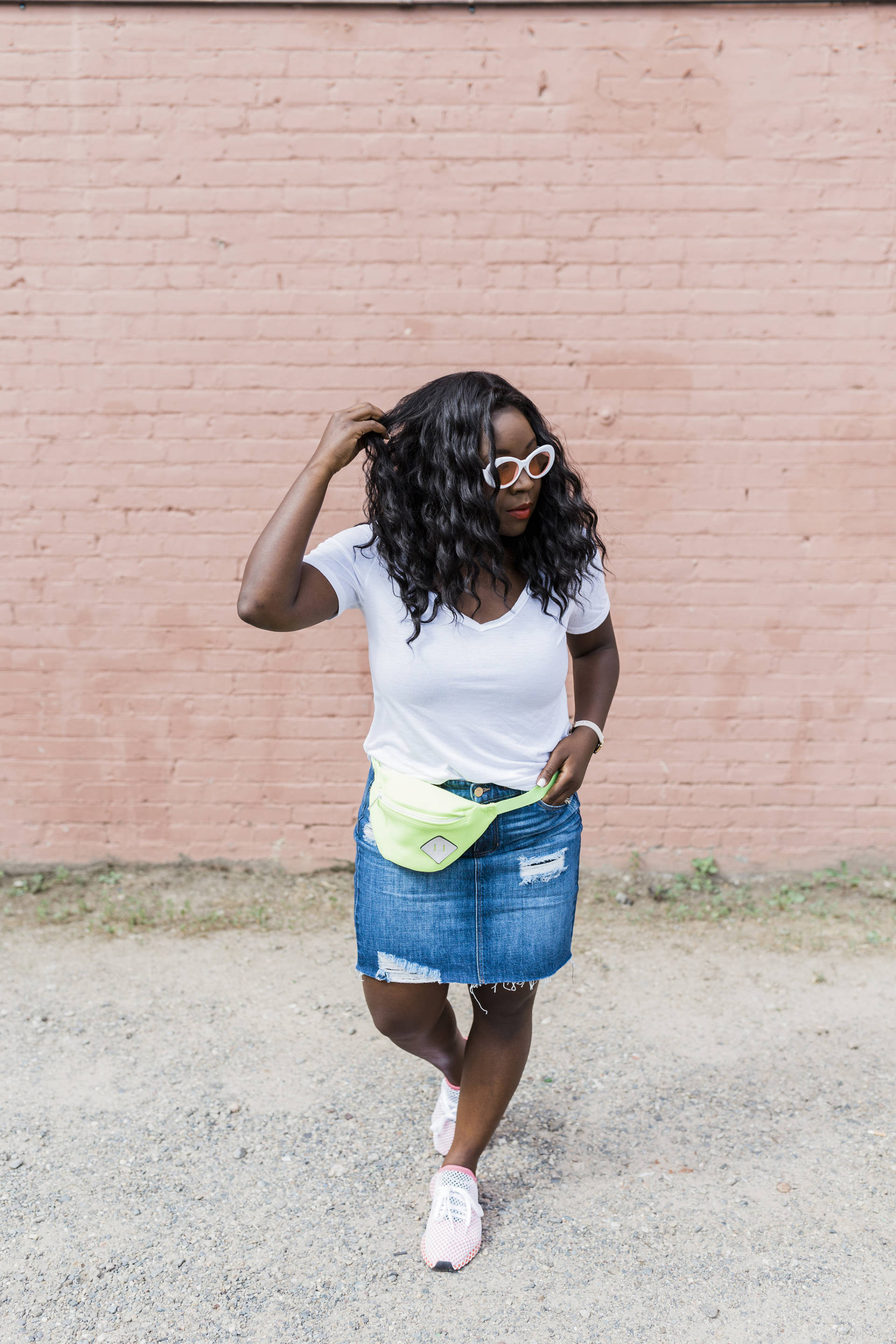 Statement Sneakers + My Summer Bucket List: I love the idea of styling sneakers with something girly like a skirt! This is the perfect look for attacking that Summer bucket list in style and with comfort!