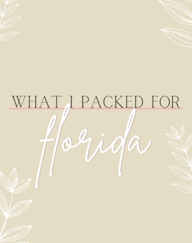 Ruthie Ridley Blog What I Packed For Florida