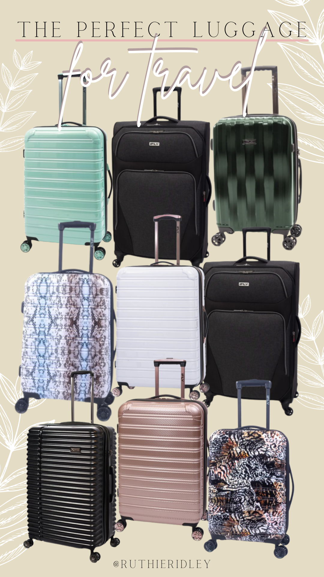 Ruthie Ridley Blog The Perfect Luggage For Travel: iFly