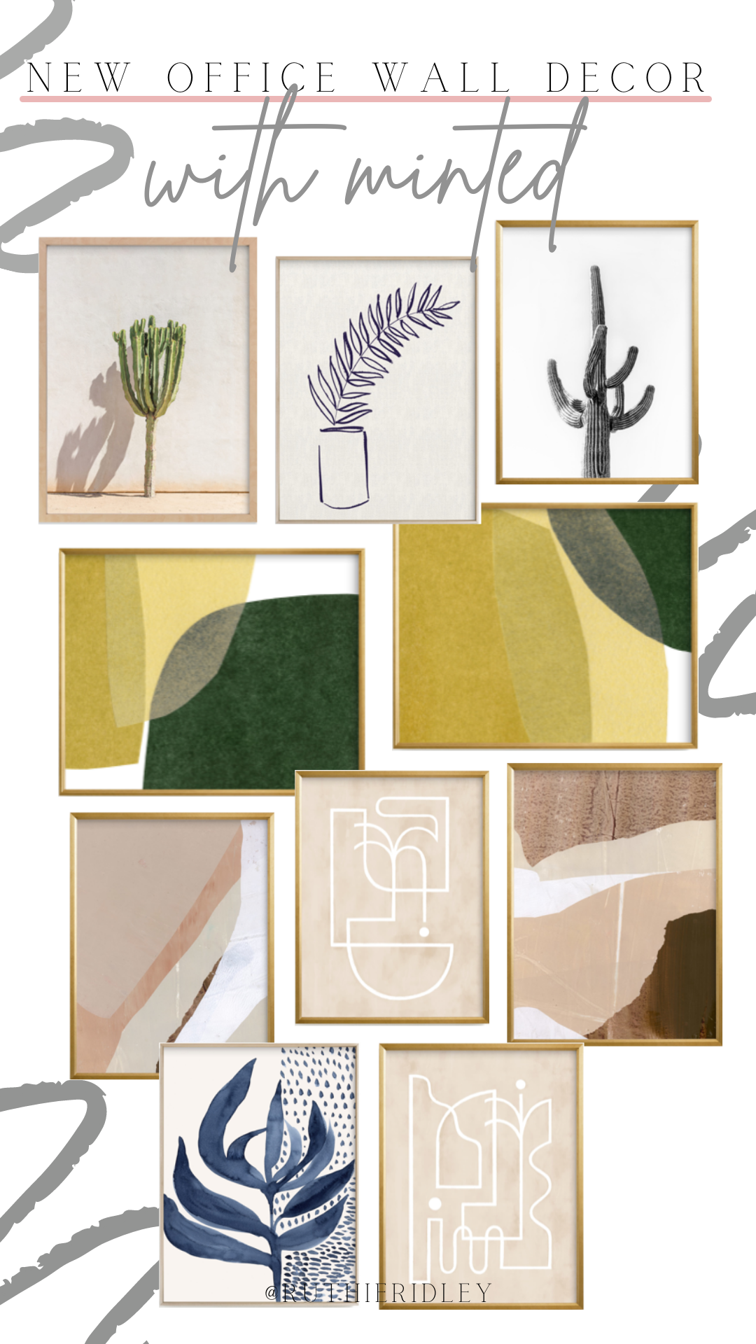 Ruthie Ridley Blog New Office Wall Decor With Minted