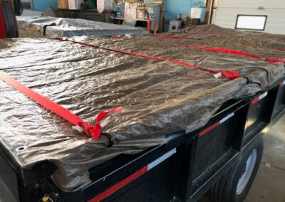 Trailer covered