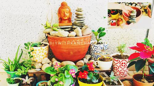 DIY Buddha Fountain Indoor