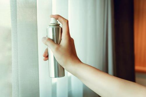 Spray Your Curtains for increasing humidity