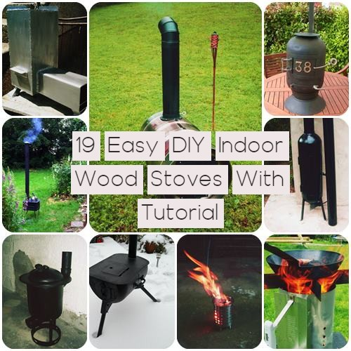 19 Easy DIY Indoor Wood Stoves With Tutorial