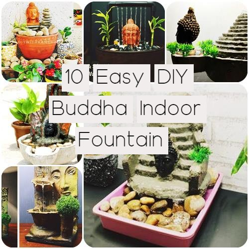 10 Easy DIY Buddha Indoor Fountain