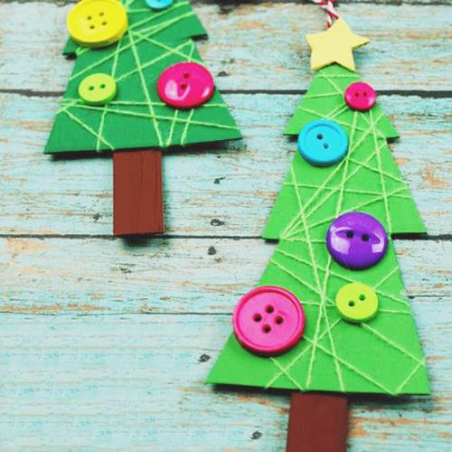 Cardboard Craft Christmas Tree For Kids