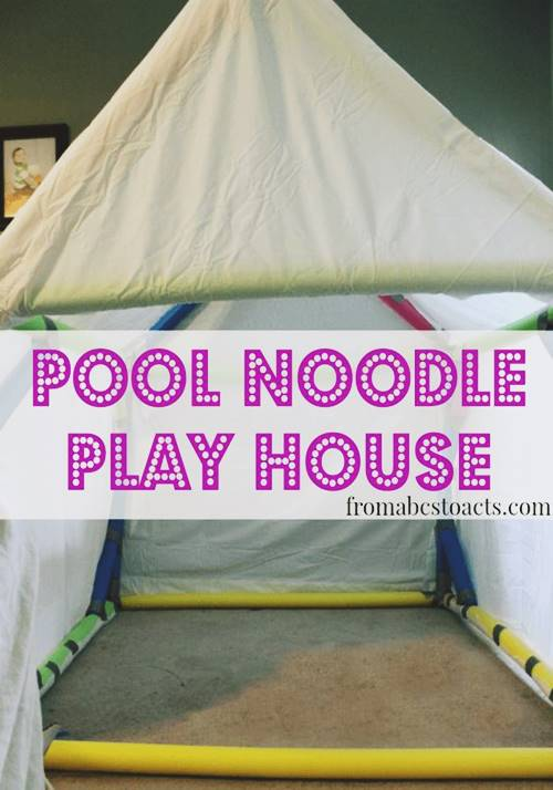 Play House From Pool Noodles