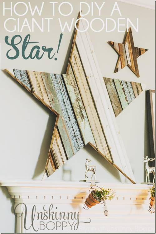 Giant Wooden Star for the Christmas