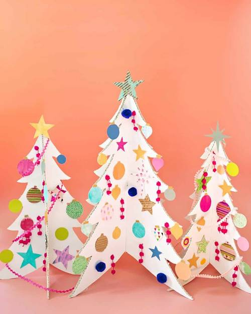 Colorful Cardboard Christmas Tree