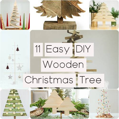 11 Easy DIY Wooden Christmas Tree