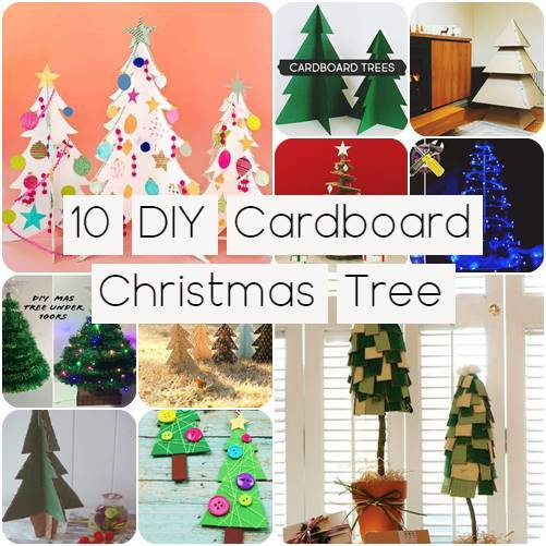 10 DIY Cardboard Christmas Tree