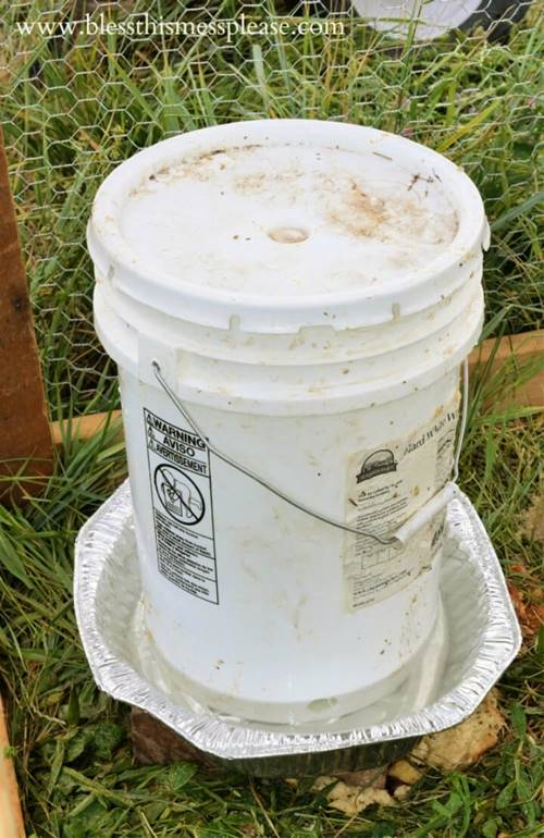 DIY Waterer From Bucket