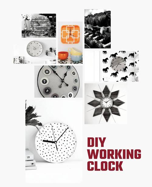How to make a working clock with waste material?