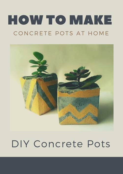 how to make concrete pots at home
