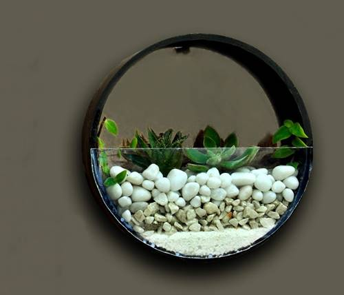 Round Wall Hanging Planter