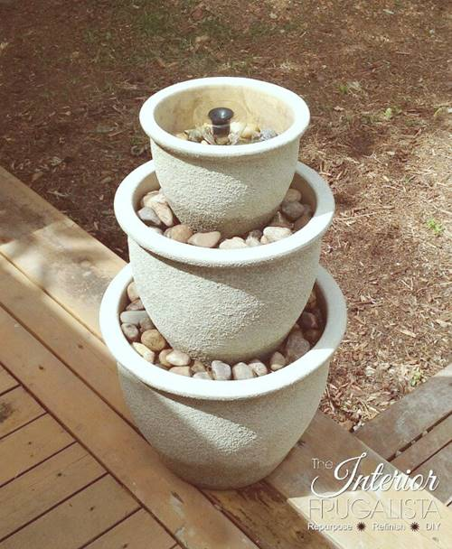 13 Cute DIY Small Fountain Ideas